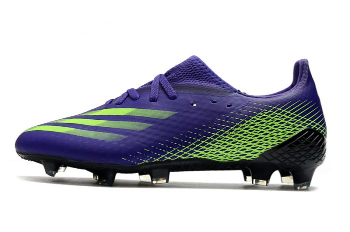 Adidas X Ghosted.1 Firm Ground Soccer - FG Purple Solar Green